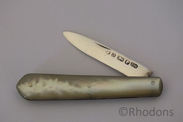 Silver Amp Mop Folding Fruit Knife Thomas Marples