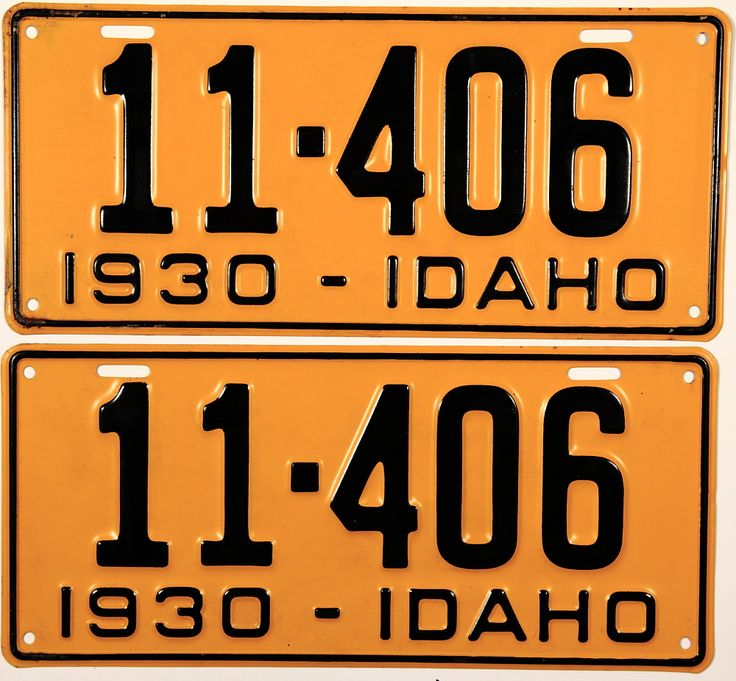 An antique pair of NOS 1930 Idaho Passenger Car license plates which are unused and will  sc 1 st  Pinterest & 101 best The Gem State images on Pinterest | Bud Gem and Gems
