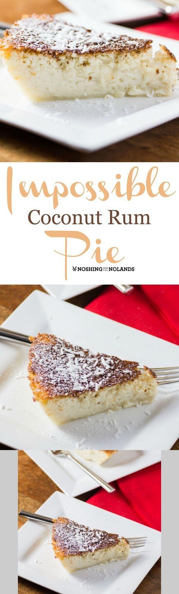 Impossible Coconut Rum Pie