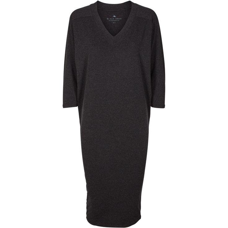 Josie dress Soft dark grey melange dress in stretchy material. Black Swan Fashion SS17