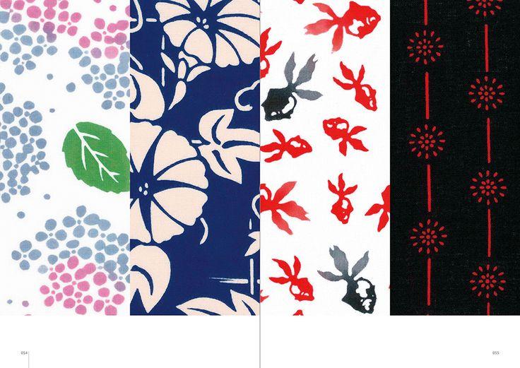 "Inside page of ""Japanese Dyeing Patterns: Kamawanu Collection of Tenugui: Japanese Cotton Cloth"" #JapanesePattern #Textile"