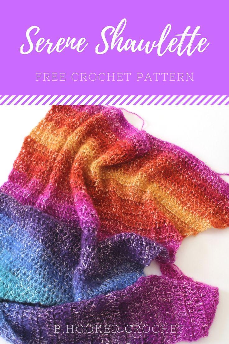 Free Crochet Pattern using @lionbrandyarn Shawl in a Ball yarn! #crochet #bhooked