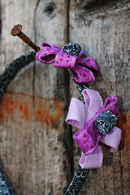maramanufaktura / MARA má čelenku /čierno -sivo -fialová /