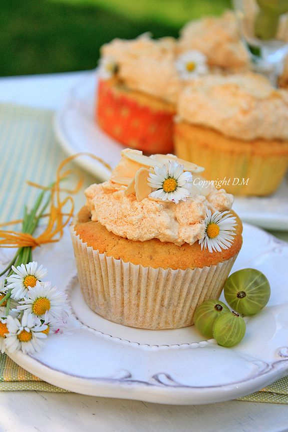 Gooseberry Almond Muffins