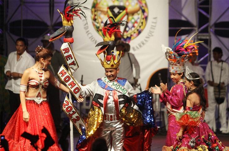 Rey Momo, el heredero del folclor caribeño 2012. Baltasar Sosa Noguera es el soberano número 18, preservando las expresiones del Carnaval de Barranquilla.