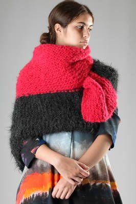 Daniela Gregis | large multicolour hand-made shawl in knitted alpaca | large multicolour hand-made shawl in knitted alpaca, could be worn as a scarf, as a shawl or as a poncho | article code: 23913 | season: Autumn/Winter | composition: