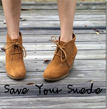 DIY waterproof your suede shoes and boots.