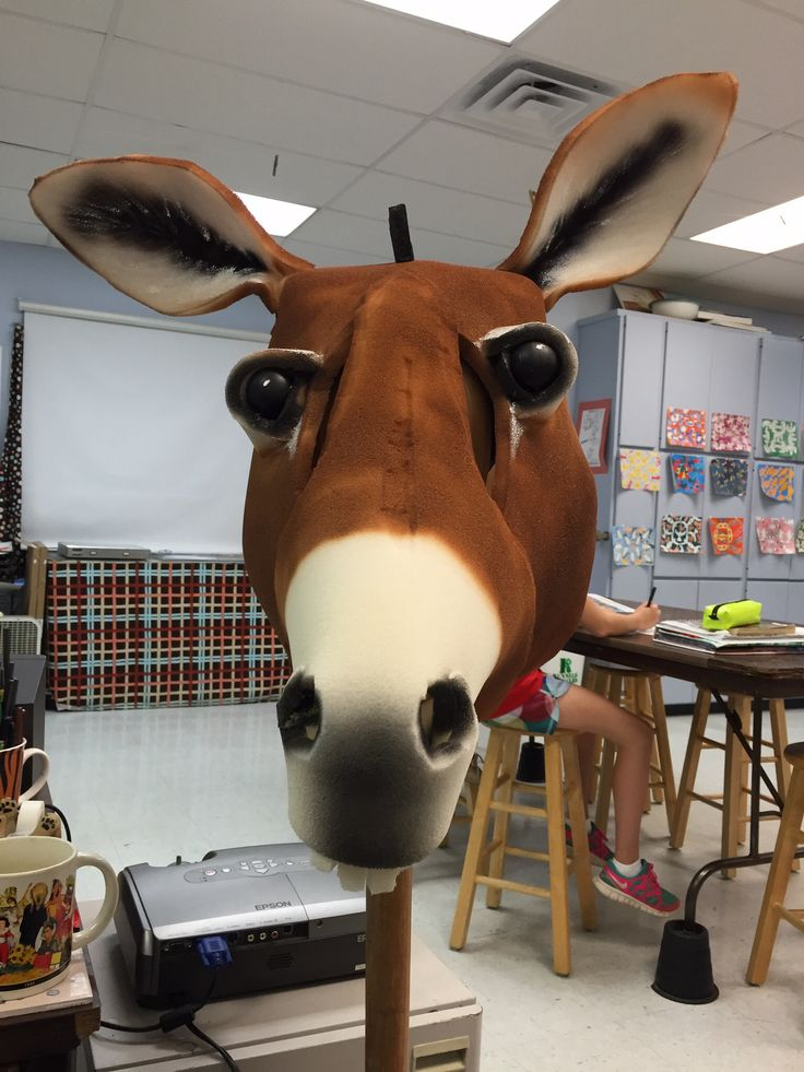 Donkey head mask puppets and costumes pinterest for Donkey face mask template