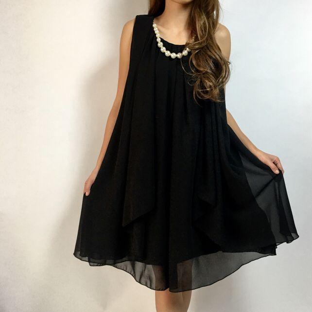 新品☆大きいサイズの方もOK☆結婚式ドレス フォーマル ブラック 2way(¥5,900)がフリマアプリ フリルで販売中♪ #fril #フリマ