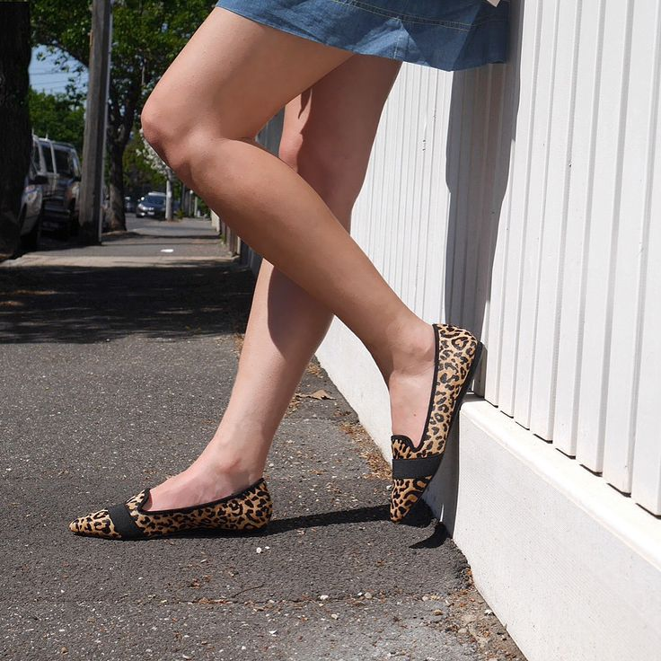 WILLOW // animal print pointy toe flats
