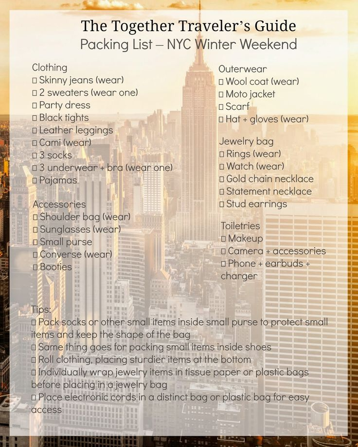 """""""Itinerary + Packing List 