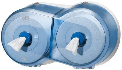 Dispenserul pentru hartie igienica mini SmartOne dublu, datorita sistemului T9, reduce consumul cu 40%. Afla mai multe despre sistemele Tork.