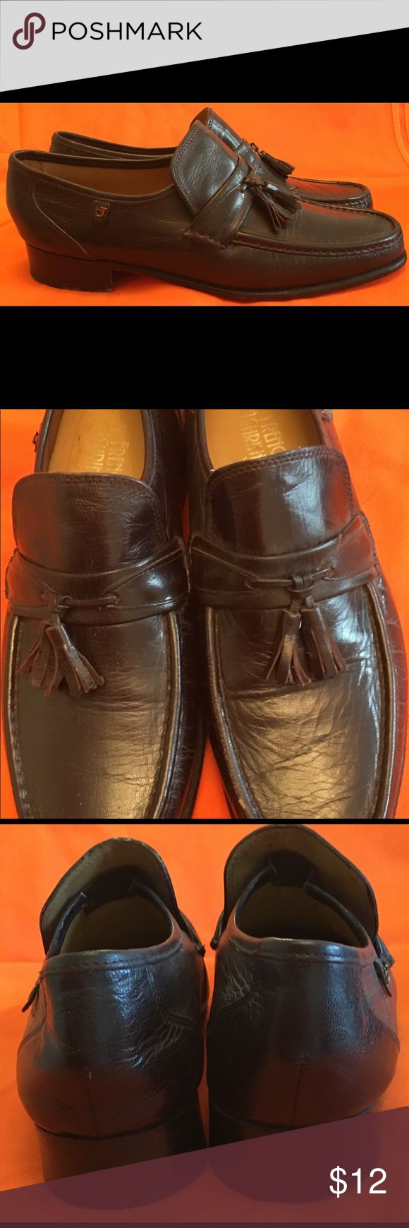🔅FINAL SALE ✨Men's Dress Shoe ✨ Men's Dress Shoes Brand: French Shriner (with Tassle) Size: 11 Material: Leather Condition: Good, little piece of the black came off one shoe on top french shriner Shoes Loafers & Slip-Ons
