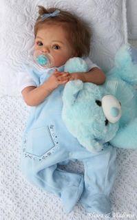 Elvira Vladimir Nursery Reborn Baby Girl Livia by Gudrun Legler