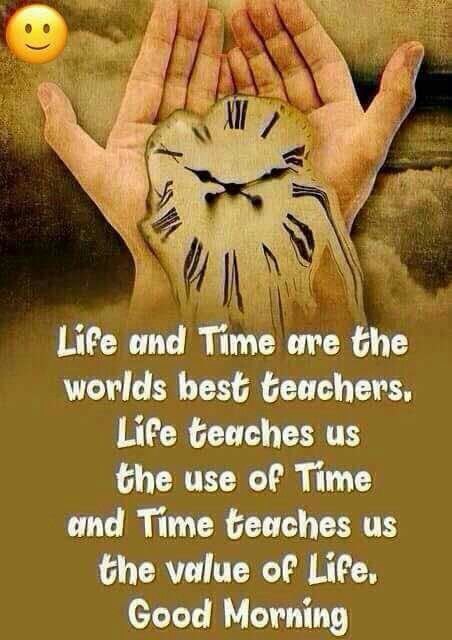 Life & Time are the Worlds Best Teachers...