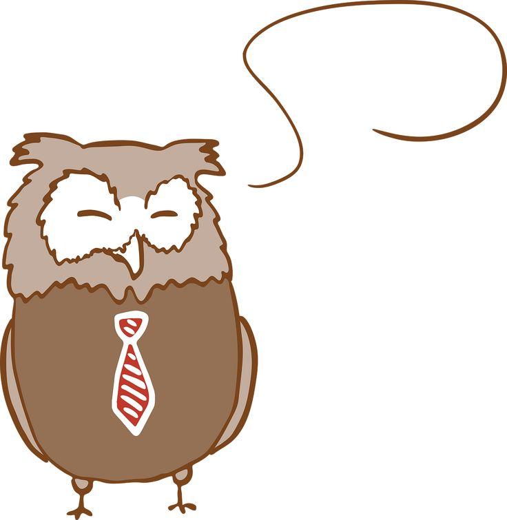 Owl Cute Fun Tie Bubble Brown transparent image