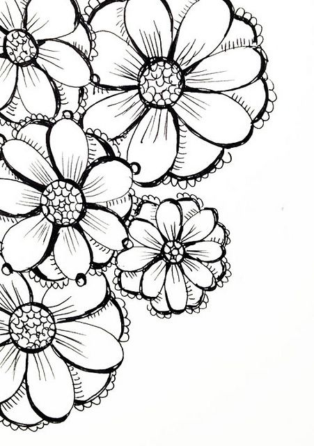 Best 25+ Flower sketch...