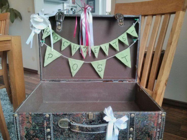 Vintage Koffer für Brautpaargeschenke/ Weddingcards