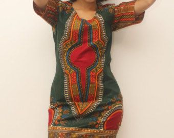 Top plissé dashiki vert by AfricanStyleAS on Etsy
