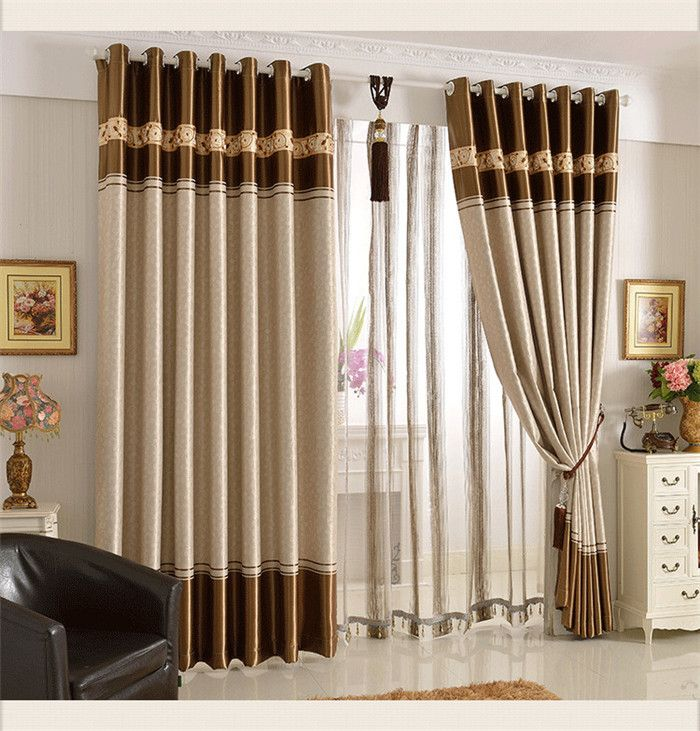 Home window decoration Quality curtain finished product shade cloth piaochuang self-shade urged bind curtains  free shipping