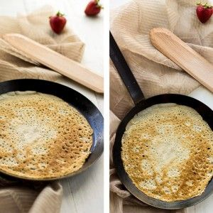 Healthy Crepe Recipe with Lemon Ricotta and Strawberry Sauce - Food Faith Fitness