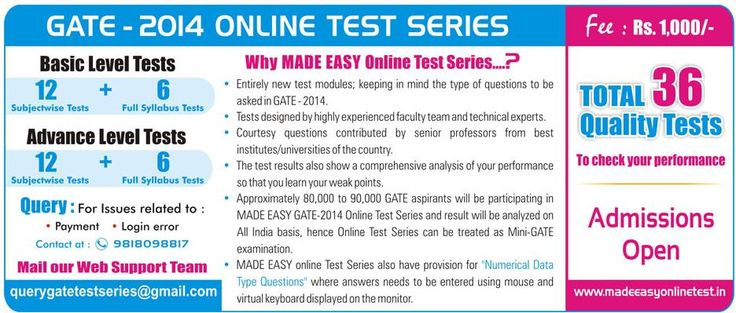Entirely new test modules; keeping in mind the type of questions to be asked in GATE-2014.