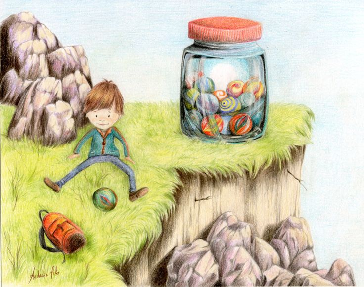 Illustration about playing with marbles; child play by FantasyView on Etsy