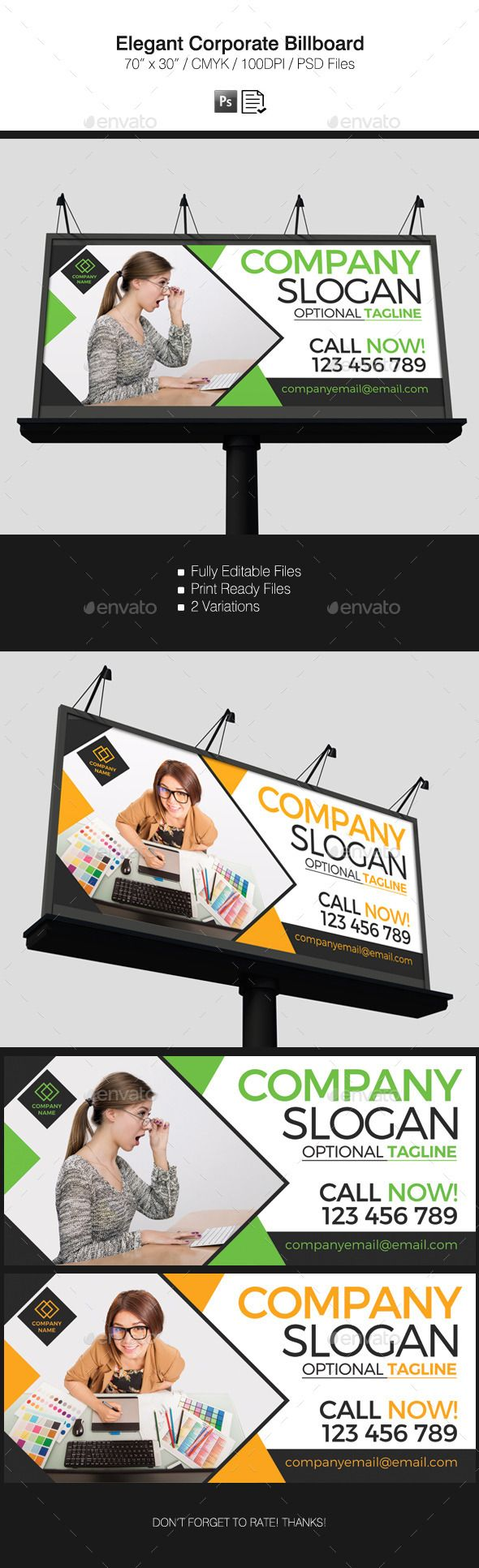 Elegant Corporate Billboard #design Download: http://graphicriver.net/item/elegant-corporate-billboard/12225766