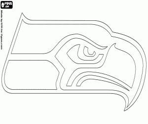 Coloriage Logo de Seattle Seahawks