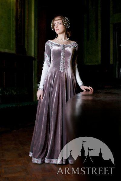 "Exclusive Velvet Embroidered Medieval Dress ""Lady Rowena"". $439.35, via Etsy."
