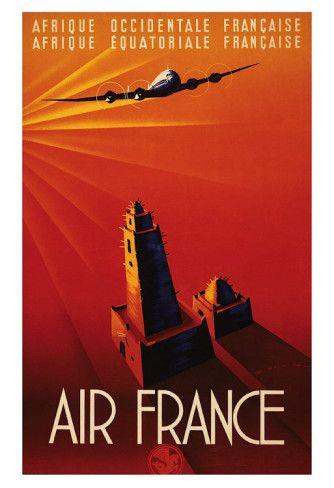 Air France, Afrique Art Print