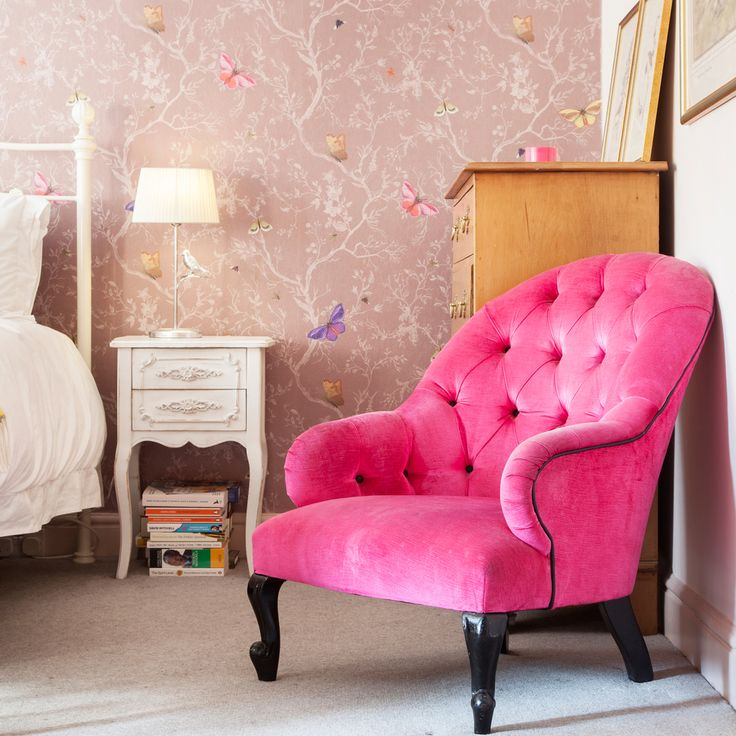 The Hot Pink Armchair From Tann Rokka, Bought In The Days When Weekends  Really Were