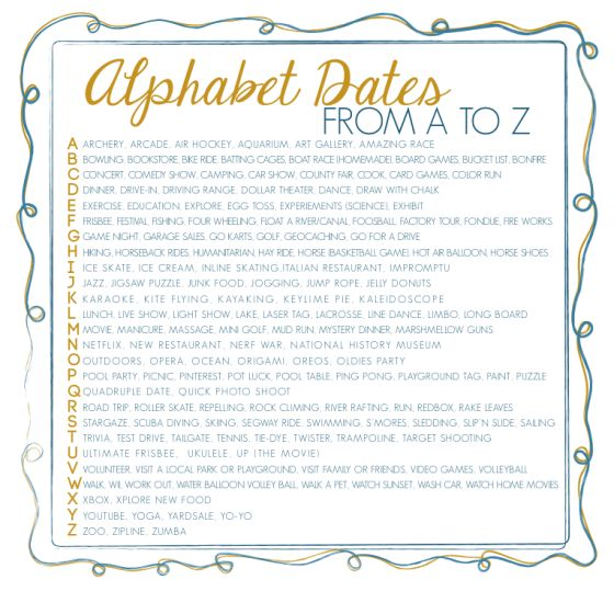 Alphabet Dates from A to Z image