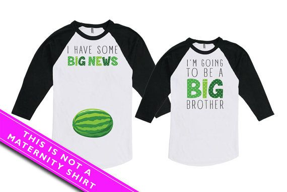 Mommy And Son Matching Outfits Baby Announcement Big Brother Shirt I Have Some Big News I'm Going To Be A Big Brother Bodysuit MAT-775-776 so280