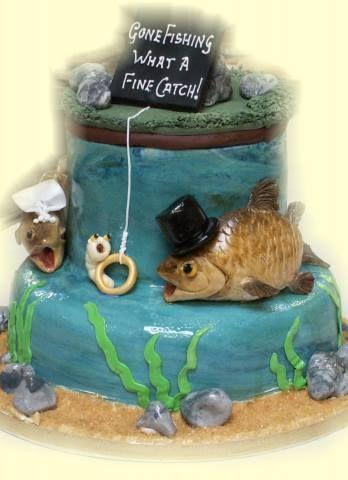 Gâteau sous le thème de la pêche , à modifier un peu selon mes gouts