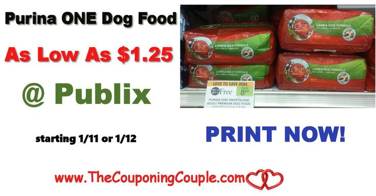 * Purina ONE Dog Food As Low As $1.25 @ Publix starting 1/11 or 1/12. Print these coupons now to hold for this HOT deal coming next week folks!  Click the link below to get all of the details ► http://www.thecouponingcouple.com/purina-one-dog-food-as-low-as-1-25-publix-starting-98/ #Coupons #Couponing #CouponCommunity  Visit us at http://www.thecouponingcouple.com for more great posts!