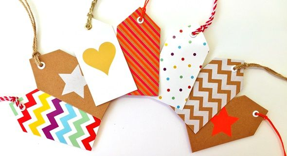 Candle Bark colourful gift tags