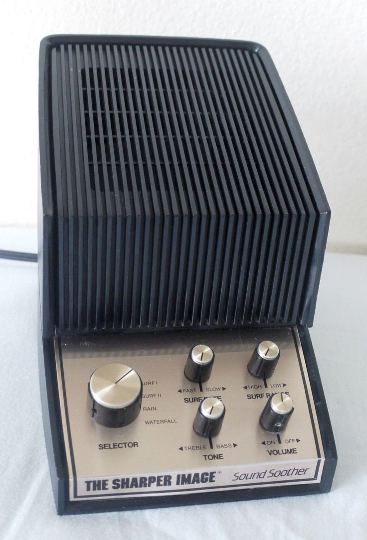 Sound Soother. 70's white and pink noise generator for your bed side table.