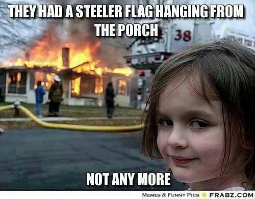 Hahaha! this psycho child.... Cleveland Browns
