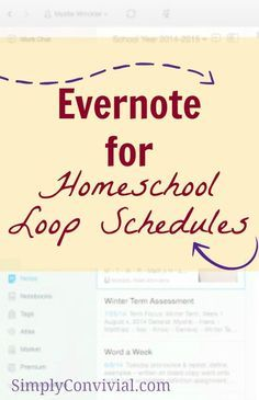 How to Use Evernote for Loop Schedules » Simply Convivial