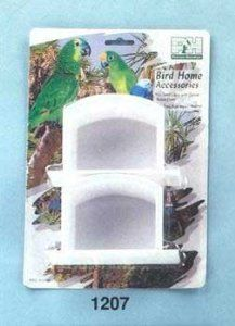 Cup - plastic W/wings 2pk by Prevue Metal Products Inc. $6.09. These cups feature a universal fit for all small-medium cage models and come in assorted colors (purple, blue, teal and white). Sold in packs of 2.