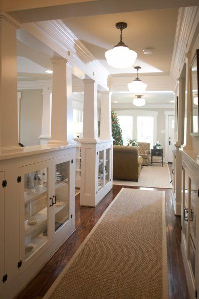 Consider making the hallway a little more open like this image?| The Craftsman Bungalow |