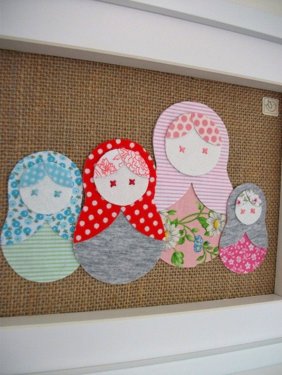 Babushka dolls in every size pin by Sarah Panitz via Etsy. Clever lil' ladies. ;-)