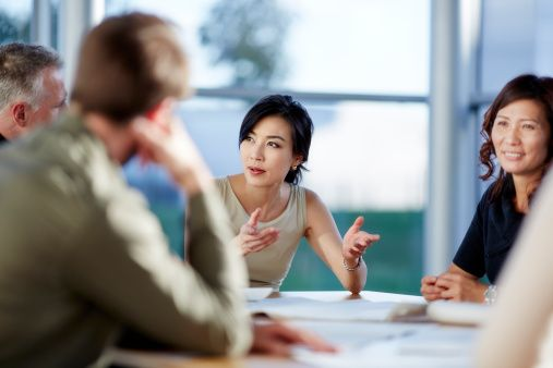 Stock Photo : Business people talking in meeting