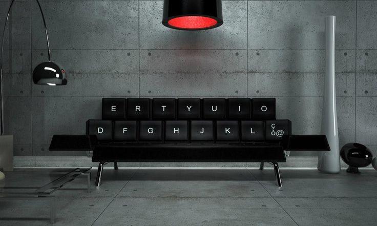 #DISEÑO Sofá QWERTY, un #sofá con aspecto de teclado creado por el estudio de arquitectura y diseño, ZO_loft