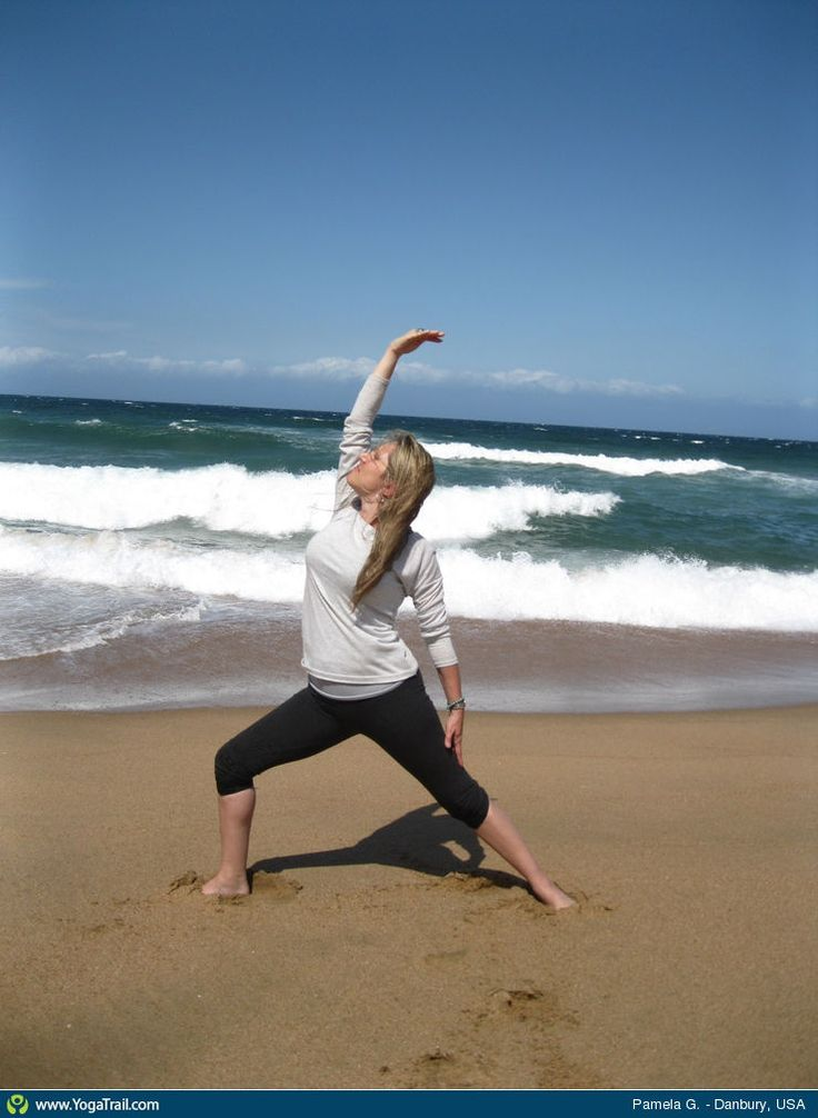"#Yoga Poses Around the World: ""Reverse Warrior Pose taken in Danbury, USA by Pamela G."""