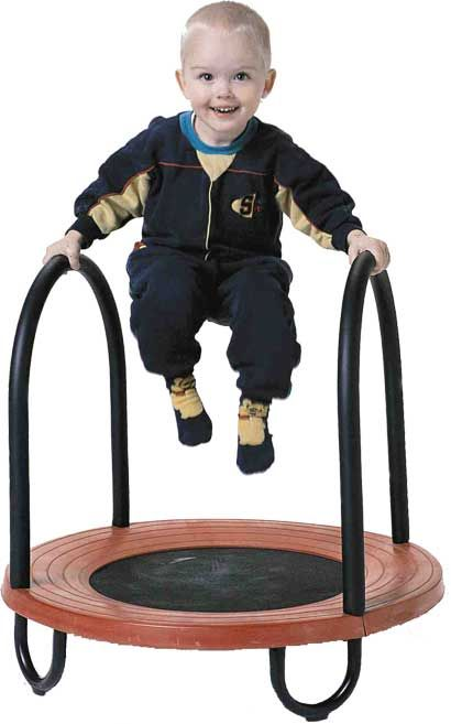 Having a trampoline can help kids of different ages learn balance and motor skills.