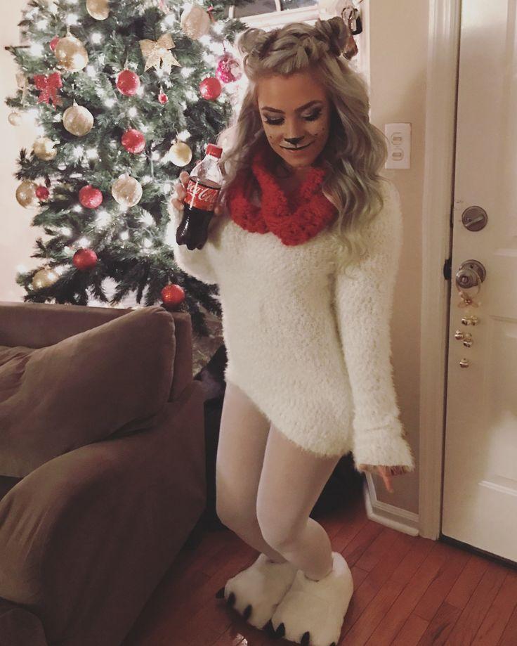 Christmas party costume Coca Cola polar bear makeup