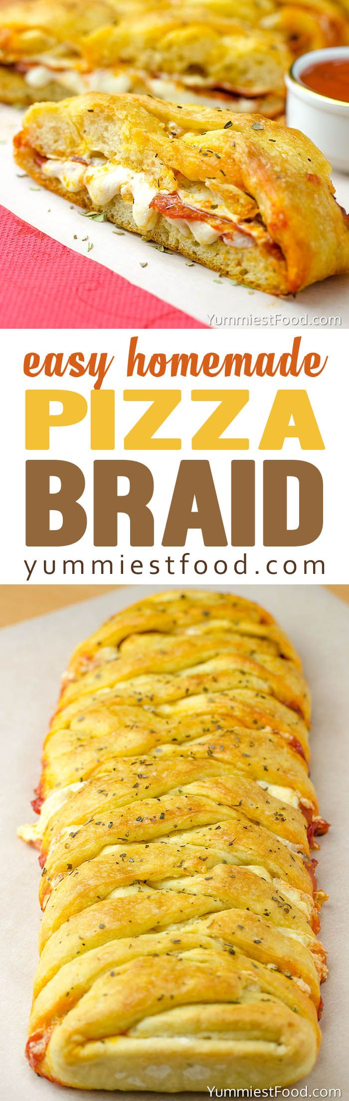 Easy Homemade Pizza Braid – is enjoyable for the entire family. This homemade pizza braid is so quick, easy and delicious you will want to make it again!