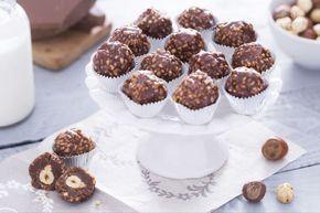 Le praline di cioccolato e nocciole sono golosi cioccolatini al gianduia  con un  cuore di croccante nocciola tostata.